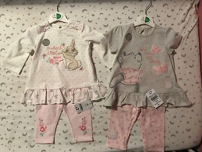 Baby Girl Disney Outfit Bundle 3-6 Months BNWT