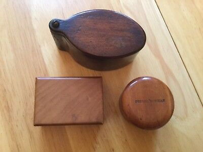 Lot Of Scottish Mauchline Treen Boxes Unusual Shapes - Vintage & No Reserve