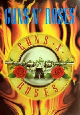 GUNS N'ROSES 'Flames Logo' Textile Poster * Ideal Gift *
