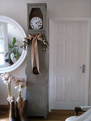 Antique French Comptoise Clock~Mora/Tall Case Grandfather/Brass Repousse c1800's