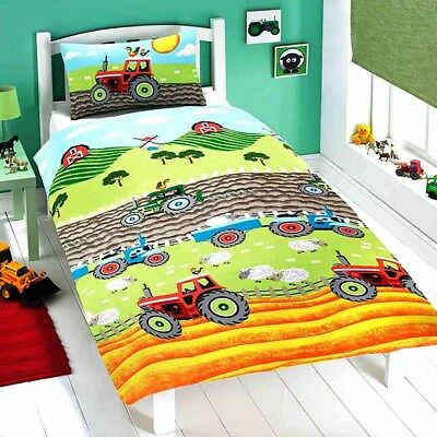 Tractor Single Duvet Set Farm Sheep Fun Kids New Gift Official Licensed