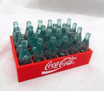 VTG COCA-COLA Coke Collectible Doll Size Mini MINIATURE BOTTLES Red Plastic Case