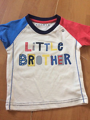 baby boys tshirt 0-3 months -little brother-