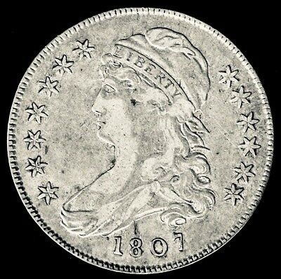 1807 50c Capped Bust Small Stars, O113