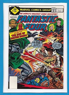 Fantastic Four #199_Oct 1978_Very Fine/near Mint_Doctor Doom_Bronze Age Marvel!