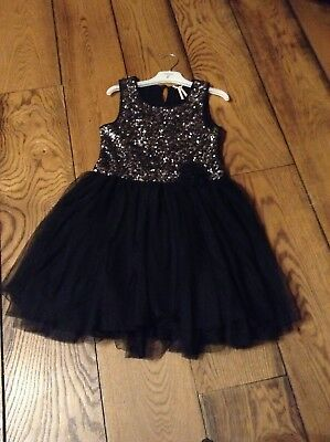 Girls Next Black sparkle And Sequin Party Dress Age 9/10 Stunning