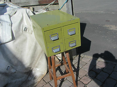 4 Drawer Vintage Industrial Index Card Cabinet