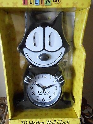 Felix the Cat 3-D Motion Clock-NEW IN UN-OPENED ORIG. BOX