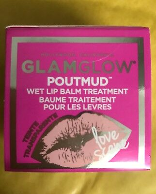 Glamglow Poutmud Wet Lip Balm Treatment Sheer Tint 'Love Scene' New In Box