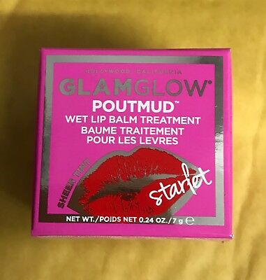Glamglow Poutmud Wet Lip Balm Treatment Sheer Tint 'Starlet' New In Box
