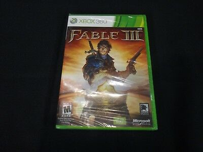 Fable III (Microsoft Xbox 360, 2010) Brand New Factory Sealed