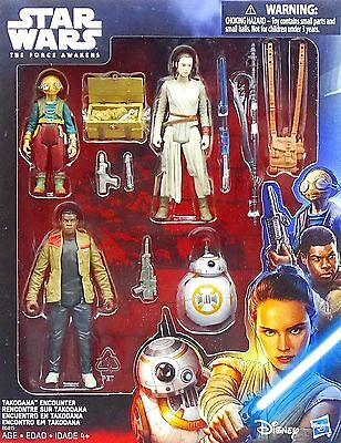 STAR WARS THE FORCE AWAKENS TAKODANA ENCOUNTER SET u.a. REY, MAZ KANATA  HASBRO
