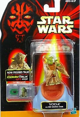 Yoda With Council Chair Star Wars Episode I The Phantom Menace 1999 Von Hasbro