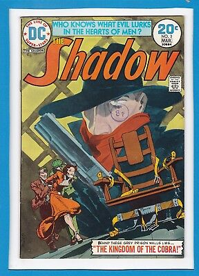 "The Shadow #3_March 1974_Very Fine_""the Kingdom Of The Cobra""_Bronze Age Dc!"