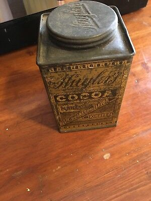 Vintage Huyler's Caracas Cocoa Breakfast Supper Tin Can Litho New York WmVcgel