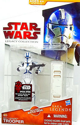 CLONE TROOPER 501st LEGION STAR WARS THE LEGACY COLLECTION 2009 VON HASBRO