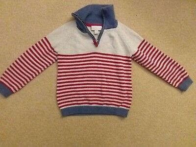 The Little White Company Boys 100% Cotton Jumper Age 3-4 Years