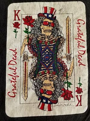 Vintage 1999 Grateful Dead King Of Roses Playing Card Black Gdm T-Shirt Xl
