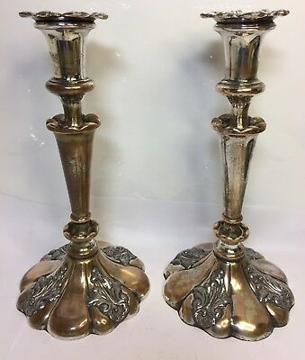 Antique Candlesticks Pair Victorian Impressive Size Style