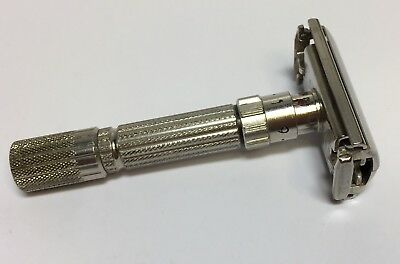 GILLETTE FATBOY ADJUSTABLE SAFETY RAZOR F2 1960 Great Design Nice Condition