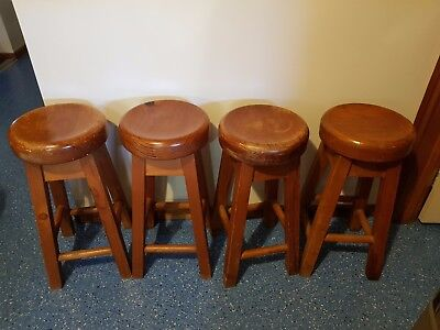 french farm country stools x 4 solid