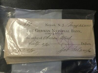 1800-1900 Lot Of Us Bank Checks 650-700 Total !