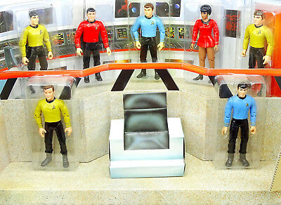 Star Trek Classic Bridge Set Mit Kirk, Uhura, Spock, Scotty, Chekov Playmates