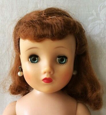 "Vintage Madame Alexander Doll with Earrings 16"" Needs TLC"