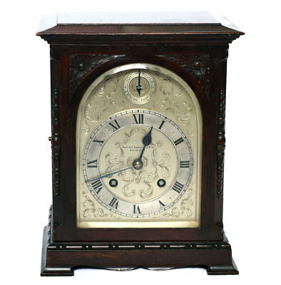 JJ ELLIOTT (London) Mahogany Bracket Clock Retailed by Fenton Russell Edinburgh