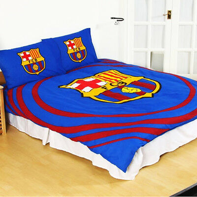 FC Barcelona Reversible Pulse Double Duvet Set Gift Official Licensed Product