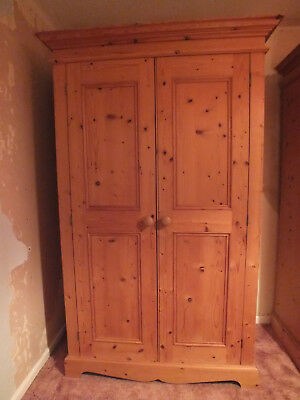 Antique Pine Gentleman's Wardrobe, Untreated