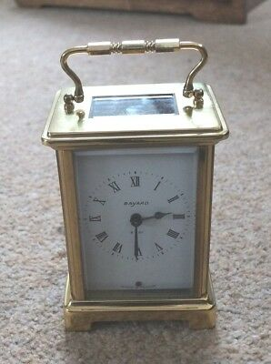 French Bayard Brass 8 day Carriage Clock Duverdrey & Bloquel in GWO