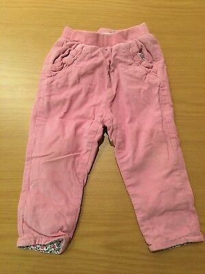JoJo Maman Bebe Pink Girls Trousers Age 6-12 Months