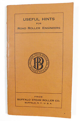Antique 1911 Buffalo Pitts Steam Road Roller Operating Instructions Manual