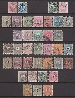 old Hungary stamps: 1874-99 Crown of St Stephen issues