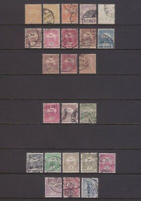 old Hungary stamps: 1904-16 collection to 5kr