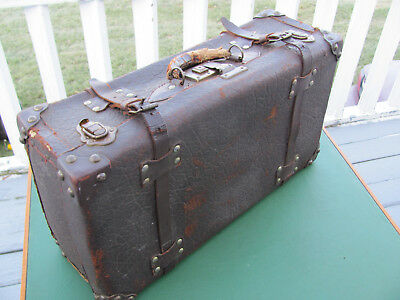 Rare Antique Travelers Leather Bag Suitcase Museum Quality Doctors