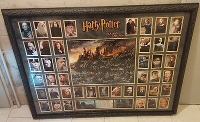Harry Potter the deathly hallows prop store framework signed