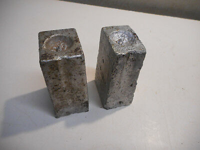L2767- Antique Blacksmith Swage Blocks - Clock Weights? 7 lbs each