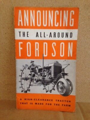 Fordson All-Around Tractor brochure 1937 Farm equipment Chester Pa vintage