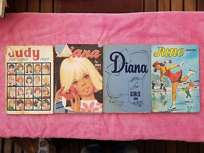 antique/ vintage girls books x four (Diana x 2  June x 1 and Judy x 1)