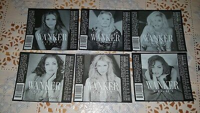 6 micro beer labels Usa Wankers women 6 etichette micro birra Usa Wankers