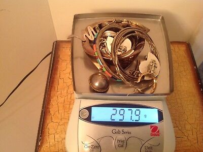 297.9 Grams Sterling Silver .925 - Scrap and Wearable