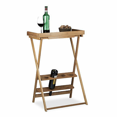 Bamboo Wine Rack with Shelf Folding with Glass Holder Wooden Foldable Wine Shelf