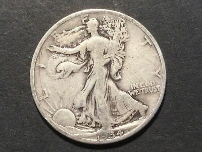 "1934 US ""Liberty Walking"" half dollar coin."