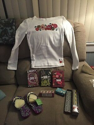 Vera Bradley NWT Lot Tee's Flip Flop Accessories Stationary, Pencil Set Must C