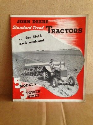 John Deere Standard Tread Tractors 1945 brochure farm equipment vintage Model D