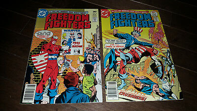 Freedom Fighters #8 VF+....#9 NM- (1977, DC)