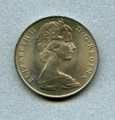 Gibraltar 1 C 1970 Brilliant Uncirculated KM 4 Mintage 45,000