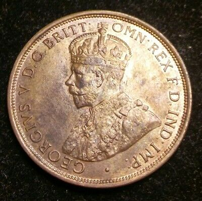 1912 Australia One Penny UNC RB Uncirculated Red Brown NO RESERVE!!